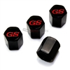 Buick GS Red Logo Black ABS Tire Valve Stem Caps