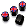 British Flag Logo Black ABS Tire Valve Stem Caps