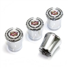 Cadillac Logo Chrome Tire Valve Stem Caps
