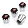 Sport Stripes Chrome Tire Valve Stem Caps