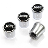 Jeep Logo Chrome Tire Valve Stem Caps