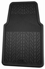 1 Premium Black All-Weather Rubber Interior Front Floor Mat for Auto-Car-Truck