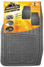 2 Armor All Gray Rubber All-Weather Interior Front Floor Mats Set for Car-Truck