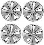 "14"" Premium Car Chrome Shiny Wheel/Rim Hub Caps Covers - Set of 4"