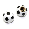2 Soccer Ball Tire/Wheel Air Stem Valve Caps for Bike-Motorcycle