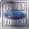 "Ford Built Tough Gray 11.5"" x 12"" Metal Garage Man Cave Sign"