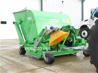 SWEEPER W/COLLECTION HOPPER & CURB BRUSH TRACTOR PTO POWERED: ROTOVAC 60""