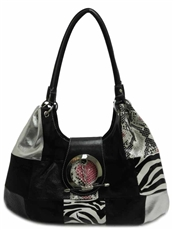 WHOLESALE DESIGNER INSPIRED PURSE HANDBAG KM3305-BLACKK