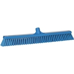 Vikan 3194, Vikan Broom- Soft / Stiff This fully color-coded floor broom has two types of bristles to first help loosen stubborn dirt and move heavy debris