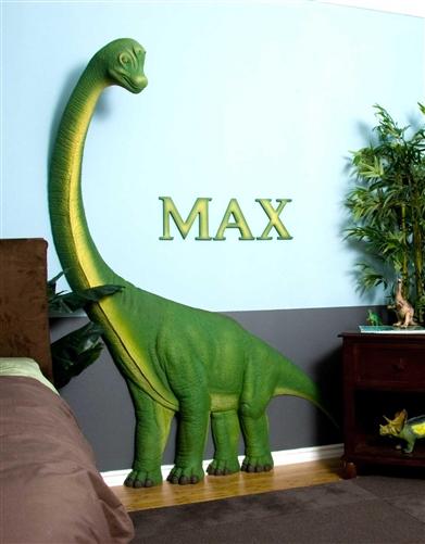 Beetling Brachiosaurus Dinosaur 3D Wall Art Decor