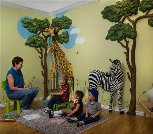 3d Wall Art beetling baby giraffe african safari 3d wall art decor