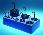 Enamel Hooked Weight Set - 9 weights 10g to 1000g