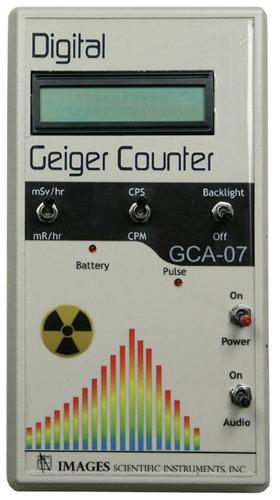 Digital Geiger Counter : Digital geiger counter with wand