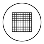 Microscope Eyepiece Reticle - Grid with 1mm increments - 25mm Diameter