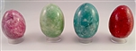 Dyed Onxy Stone Egg 2-1/2 inches Tall stand