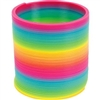 Small Rainbow Plastic Coil Spring 4""