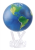 "Mova 4-/12"" Solar Spinning Globe with Natural Earth"