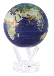 "Mova 6"" Solar Spinning Globe Satellite View"