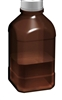 2500ml borosilicate glass autoclavable amber bottle (45mm neck)