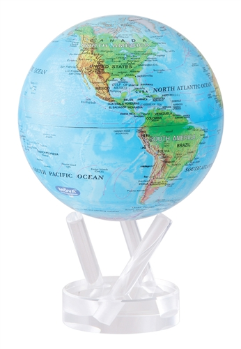 Mova 6 solar spinning globe blue with relief map gumiabroncs Gallery