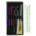 8 Piece Dissecting Kit with Screw-Lock Blade