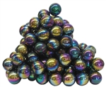 Peacock Rainbow Spherical Magnets