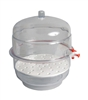 "6"" Vacuum Desiccator with Clear Base"