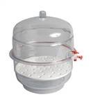 "8"" Vacuum Desiccator with Clear Base"