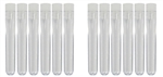 "Plastic Tubes with Stopper, pack of 12,  3-1/8"" x 1/2"""