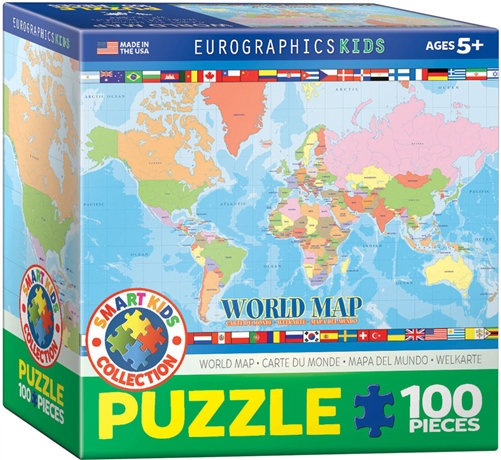 World map jigsaw puzzle 100 pieces gumiabroncs