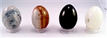 Onxy Stone Egg 2-1/2 inches Tall Natural with stand