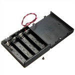 4 x AA Battery Case with Leads and Switch