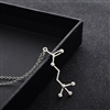 Acetylcholine Molecule Necklace -Silver Colored