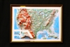 "USA Raised 3D Map 9"" x 12"""