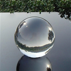 Clear Glass Sphere, 40mm Diameter with Stand