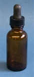 Amber Bottle with dropper 1/2 oz.