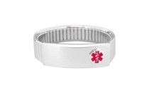 Women's Sterling Silver Expansion Medical ID Bracelet