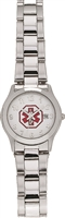 Ladies' and Children's Small Stainless Steel Medical ID Watch with Date