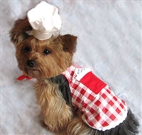 Pet Apron - Red Check