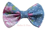 Chambray hair bow
