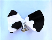 Cow Dog - Hair Bow  Cow Print