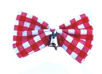 Cow Dog - Hair Bow Red & White