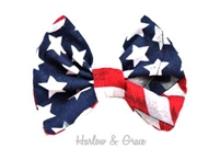 flag hair bow