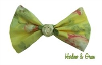 Floral Hair Bow - Yellow