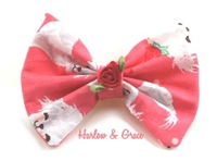 dog print hair bow