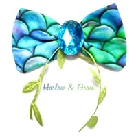 mermaid dog hair bow