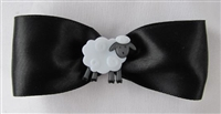 Meet Me In Montana - Hair Bow Satin Black
