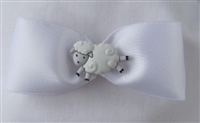 Meet Me In Montana - Hair Bow White Satin
