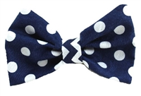 Hair bow polka dot