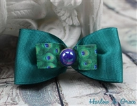 Peacock Hair Bow